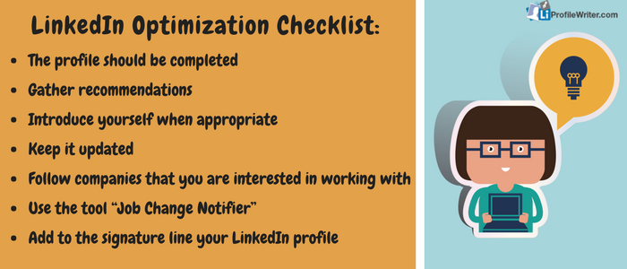 linkedIn optimization checklist