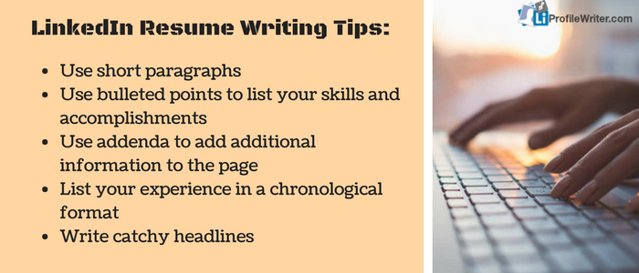 LinkedIn Resume Writing Tips