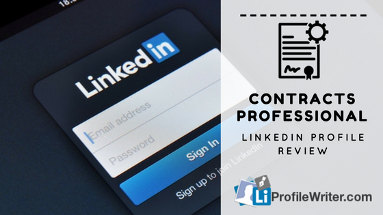 contracts professional best linkedin profile
