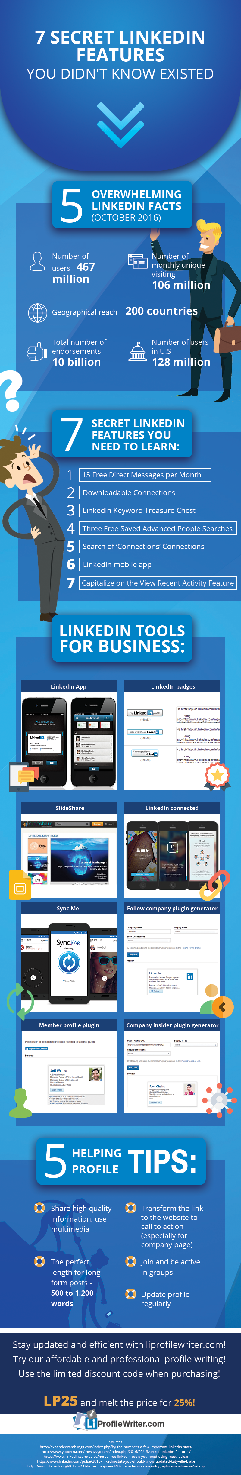 top linkedin features for business