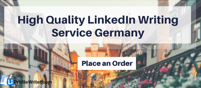 help writing linkedin profile germany