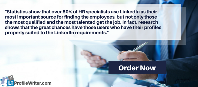 linkedin business profile infographic