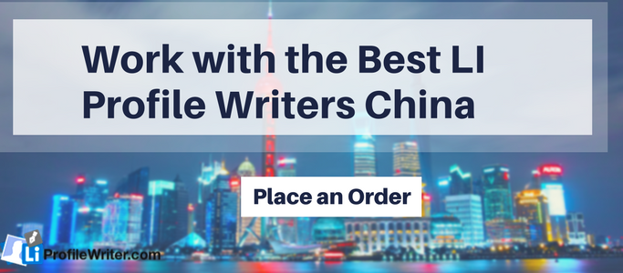 linkedin writing service china