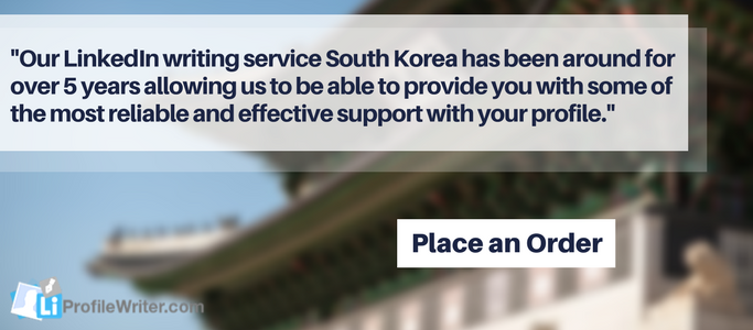linkedin writing service south korea