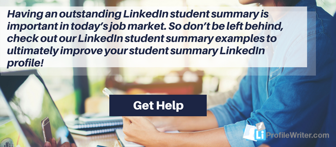 professional linkedin student summary experts